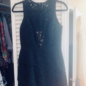 BCBG Black Lace Tier Dress